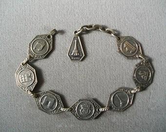 Vintage Bracelet Paris Souvenir French Eiffel Tower Accessories