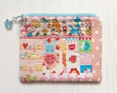 kawaii patchwork zipper pouch