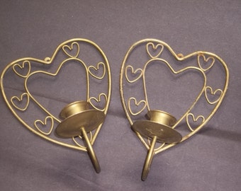 Heart Wall Decor Candle Holders