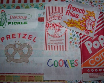 25 Bags You choose from Peanut/Pickle/Popcorn/Cookie/Pretzel & French Fry-Circus/Carnival Tailgating/Fast Ship!