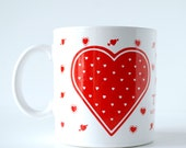 Vintage Taylor & Ng Valentine Mug 1979 Je T'aime Mon Petit Chou with Red Hearts