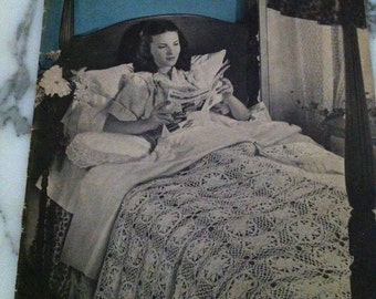 Star Bedspreads Book No. 34 American Thread Co 1940s Star Bedspreads Vintage How To Crocheted Bedspreads