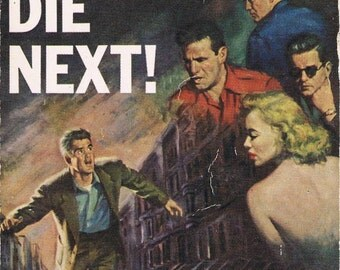 Two NOIR Novels in One, ACE Double Pulp Paperback, You'll Die Next & Drag the Dark
