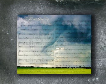 Perfect Gift For Your One True Love -You're My Penguin -Love Notes-Love Letters -Custom Watercolor over Sheet Music.  Your Choice of Music -