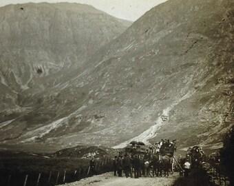 Vintage magic lantern slide of a Scottish? landscape by W. Harvey