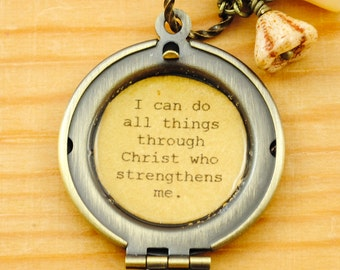 Philippians 4:13 Women's Locket - I can do all things through Christ who strengthens me