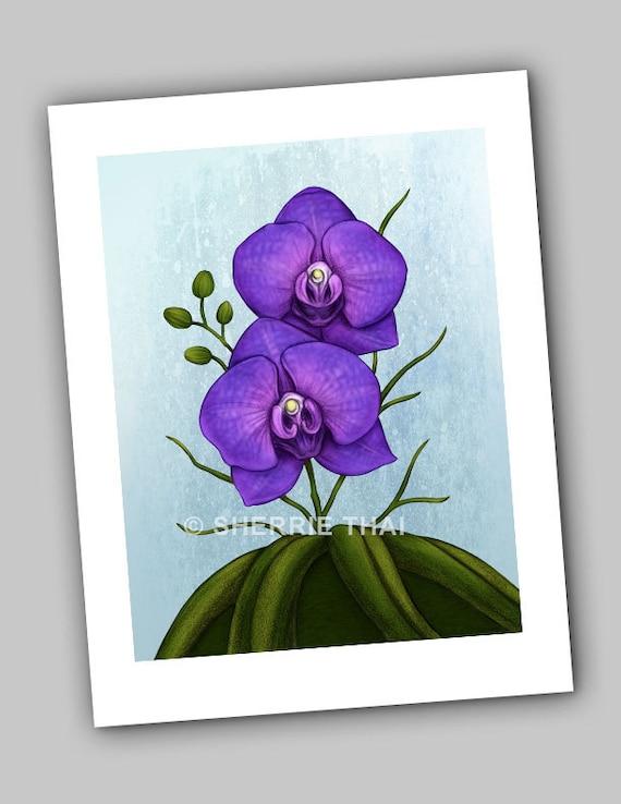 Vanda Orchids Print
