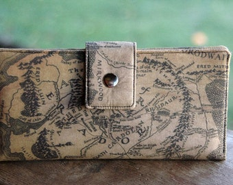 Lord of the rings handmade cotton custom clutch middle earth