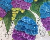 Lilac floor cloth