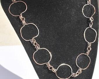 Copper Circles Necklace
