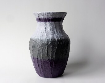 Vase / Purple and Gray Vase  / Purple Plum Home Decor / made to order / home and garden