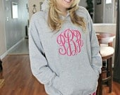 Ladies large monogram hoodie sweatshirt