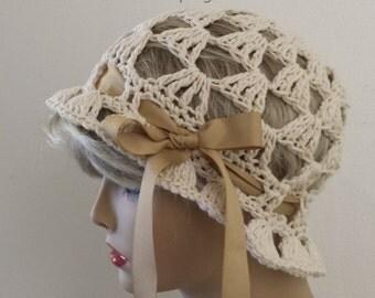 Cloche Hat, Spring Summer Hat, Vintage look Sun Hat, Floppy Beach Hat in 22 colors, Beanie Cloche Floppy Bridal Hat, Floppy Chemo Beach Hat