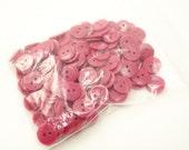 "Dark Rose Pink 7/16"" (11 mm) buttons, Qty 192"