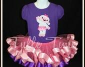 Doc McStuffins Lambie birthday ribbon tutu dress size 4t