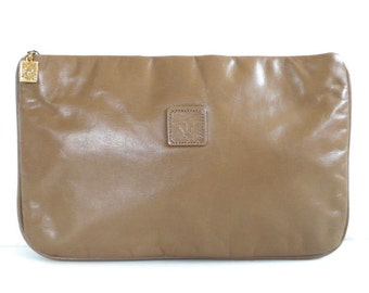 Vintage Anne Klein Tan Leather Pouch