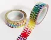 Colorful Tie Dye Washi Tape Packaging tie-dye modern tape Gift Wrapping single roll