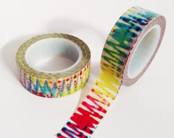 Colorful Tie Dye Washi Tape tie-dye tape single roll
