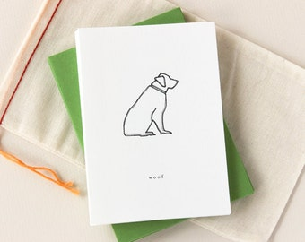 Dog Notecard Set: Woof Golden Retriever