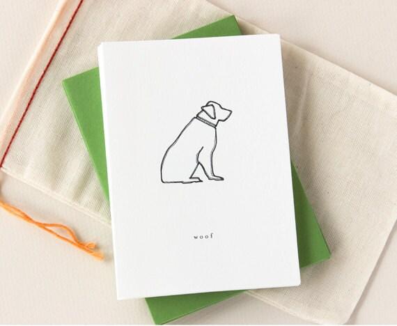 Dog Notecard Set: Woof Golden Retriever