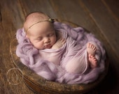 Angel Hair Basket Fluff Filler Lilac Newborn Photography Prop Mat Blanket Unisex baby boy girl