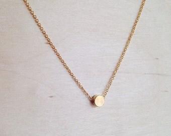 Tiny Gold Dot Necklace