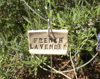 Handmade Ceramic French Lavender Plant Marker