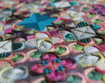 Geometric Embroidery, PDF, Needlepoint Kit, download PDF, Embroidery pattern, Thread Pattern, Needle Art Download, Thread Design PDF