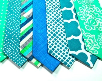 Blue Neckties, Teal Neckties Wedding Neckties Mens Neckties Emerald Neckties Custom Neckties