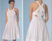 Vogue Patterns American Designer Rebecca Taylor V1446  Dress with Tucked Bodice, Back Strap Detail, Side Pockets Misses' Sizes 12-14-16