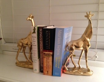 Gold giraffe bookends giraffe ornaments safari ornaments safari bookends
