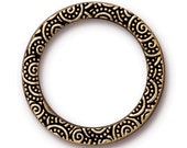 """TierraCast 25mm Spiral Ring pewter with antiqued gold finish 25mm (1"""") Diameter x 1.5mm Thk"""