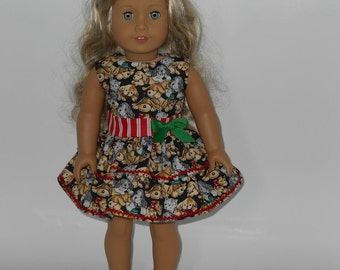 18 inch doll, Puppy Dog Dress, 02-0014