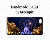 Disney iPhone 6 case, iPhone 5 case, iPhone 4, Disney Galaxy S5 case, fireworks, Cinderella Castle, Main Street USA, Magic Kingdom, 6S cover