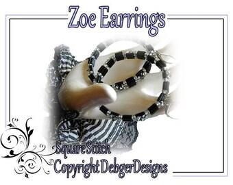 Zoe Earrings - Tila Beading Pattern Tutorial