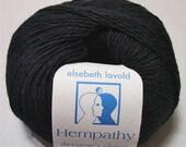 Hempathy 01 Black Elsebeth Lavold Hemp Cotton Modal Yarn 50 gram