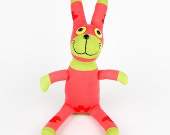 Plush kids toys Handmade Sock Rabbit Bunny Stuffed Animal Doll Baby Toys easter gift