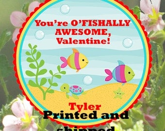 Valentines You're o'fishally awesome favor tags printable do it yourself