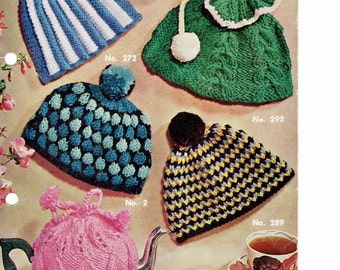 Vintage Knitting Pattern - Tea Cosy Cosies Cozies