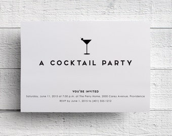 Cocktail Party Invitation, Corporate Event, Company Party, Company Event, Fundraiser Invite, Printable Invite, Charity Event