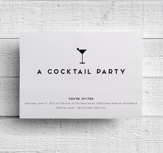 Cocktail Party Invitations Bachelorette