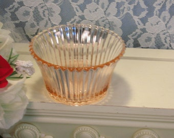 Vintage Hocking Pink Queen Mary Flared Sherbet Depression Glass, Hard to Find Piece, 1930's Glass Dinnerware, Kitchen Collectible