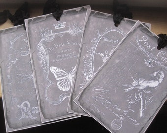 french market large chalkboard xray tags set of 4