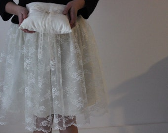 Flower girl skirt ....Lace and cotton