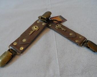 Vintage Key Bustle Clip / Skirt Hiker / Vest Clip PAIR