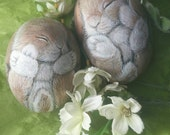 Baby Bunny Babies, Painted Rocks by Shelli Bowler- Reserved for Cherubini