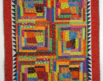 Quilted Contemporary Wall Hanging--Day at the Circus