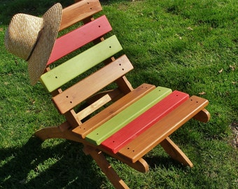 Great Outdoor Chairs!  Choose Your Favorite Stripe Colors For Your Beach Chair, Garden Chair, Patio Chair, Cabin Chair - Laughing Creek