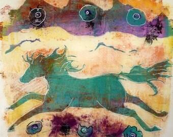 Horse Mono-Print by Maure Bausch