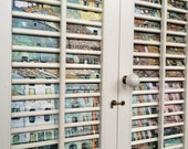 Window Wall Art  Vintage Wood Louver Shutter Wall Art 2 Panel - Gustav Klimt  Free Shipping Decoupage Wall Hanging Wall Decor